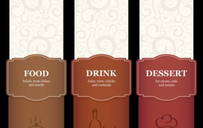 نماذج جاهزة لتصميم قوائم طعام ومشروبات