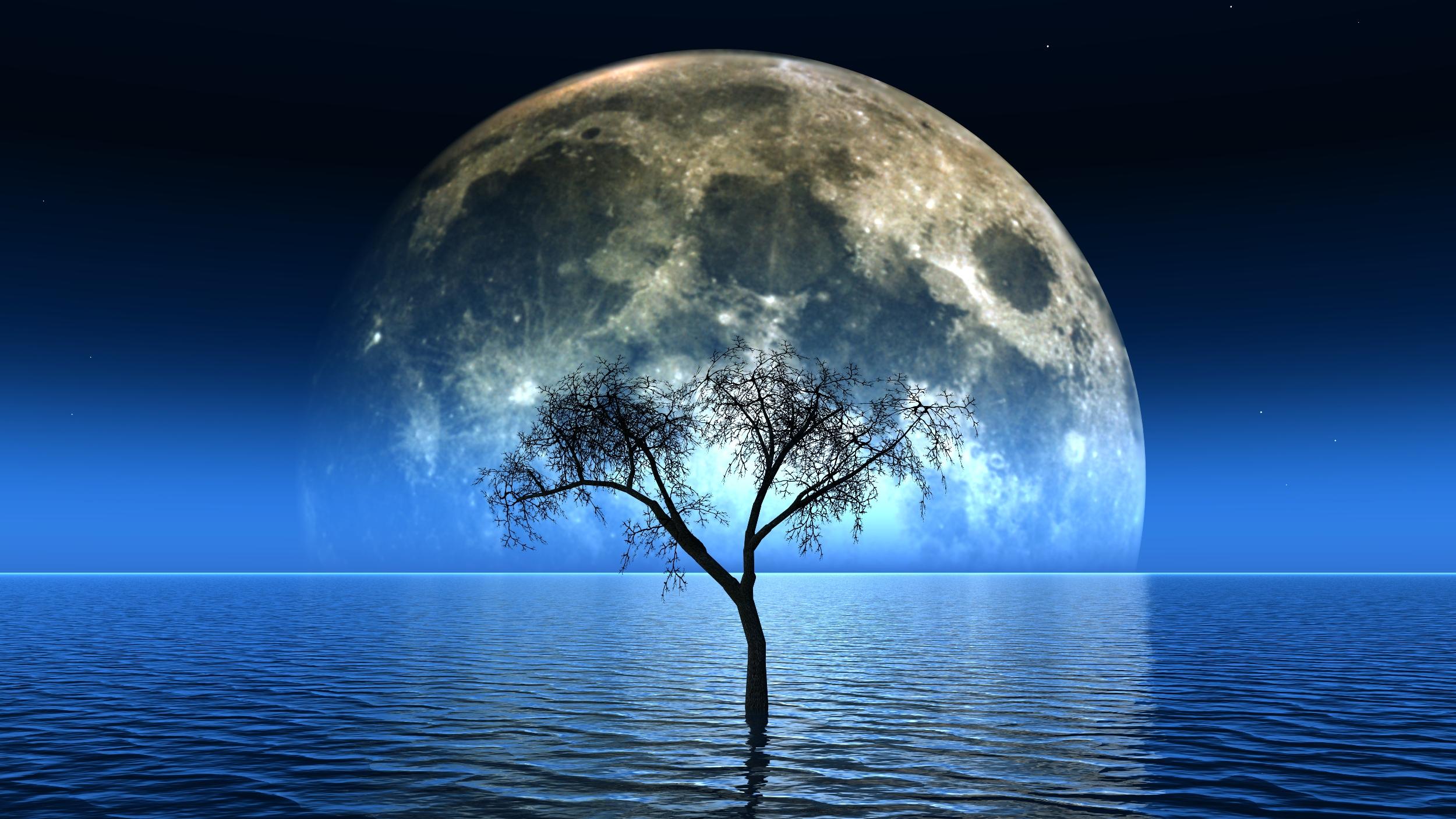 صور وخلفيات  قمر ونجوم